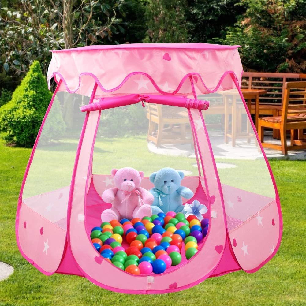 Pop Up Princess Tent Portable Playhouse Toy Pink Princess Castle Fairy Play Carpas para niños
