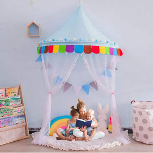 Princesa Baby Bed Canopy para niños Dome Hanging Play Tent Mosquiteras